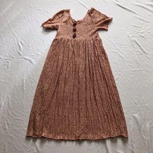 Vintage dress blush semi sheer maxi slip on M